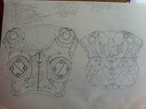 clay carmine gears of war cosplay draft