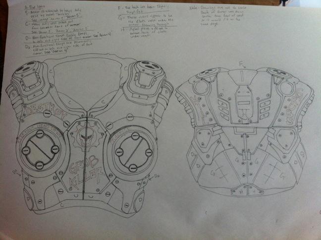 Gears of War Drawings Carmine Clay Carmine Gears of War